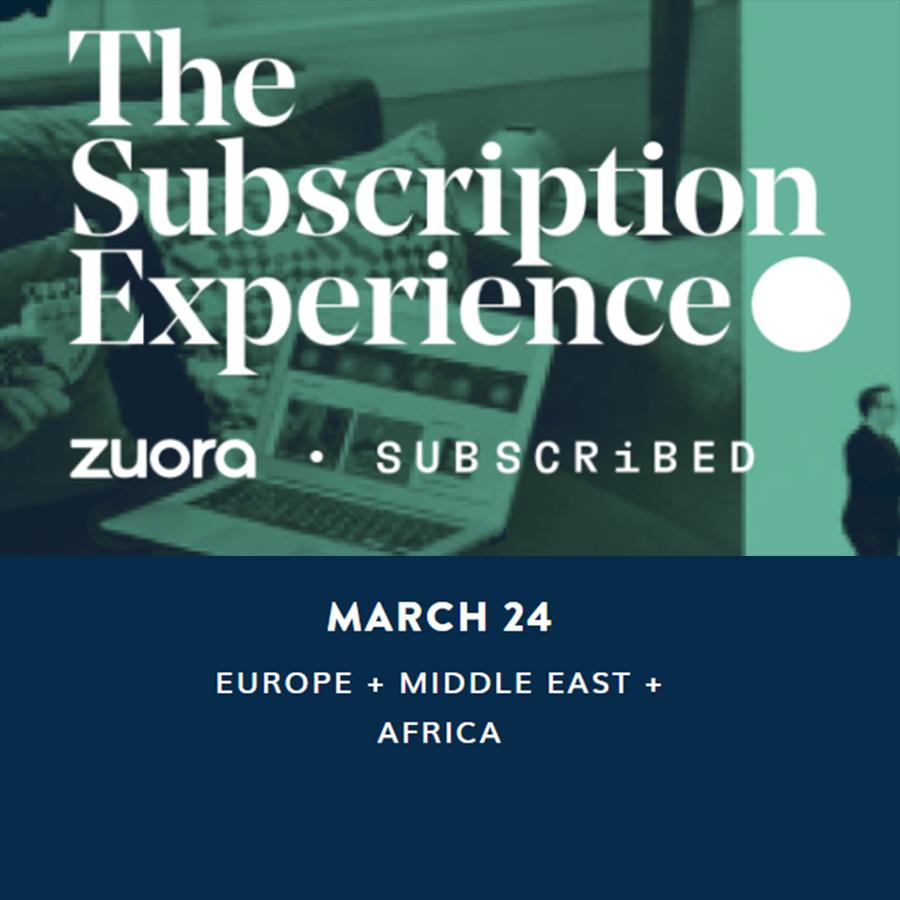 The Subscription Experience! L'evento di Zuora